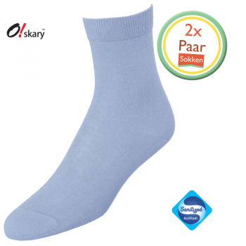 2 Paar dames sokken serenity blauw klassiek
