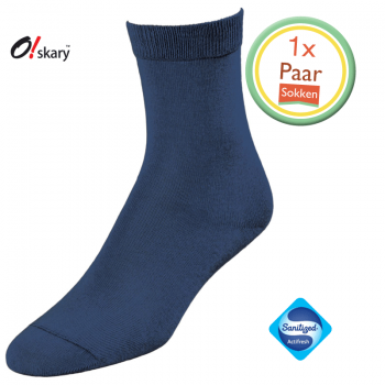 Dames sokken blauw klassiek