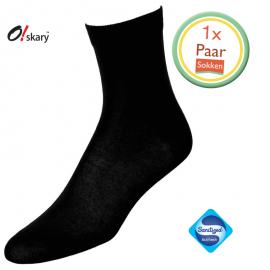 Dames sokken zwart klassiek