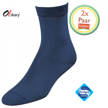 2 Paar dames sokken blauw klassiek
