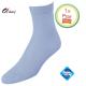 Dames sokken licht blauw klassiek