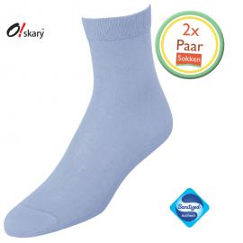 2 Paar dames sokken blauw klassiek