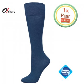 Kniekousen dames blauw