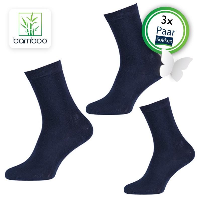Bamboe sokken heren Navy (3 Paar) - 2