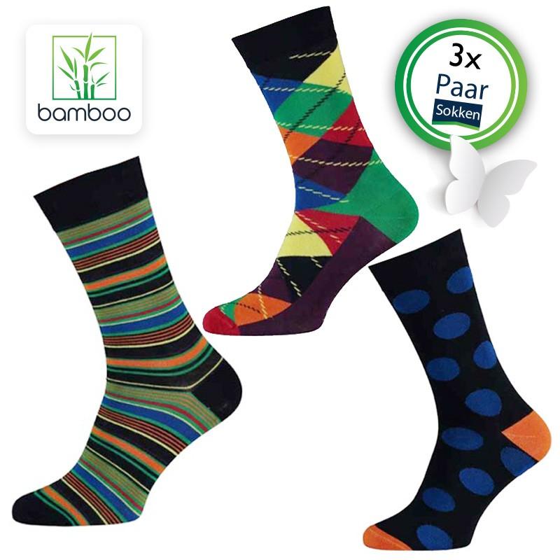 Bamboe sokken heren Life (3 Paar)