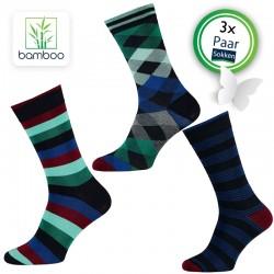 Bamboe sokken heren Vigor (3 Paar)