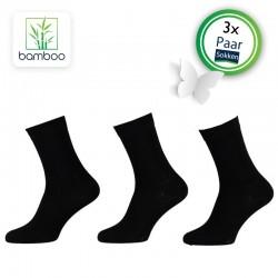 Bamboe sokken heren Zwart (3 Paar) - 3
