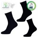 Bamboe sokken heren Zwart (3 Paar)