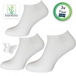 Bamboe sneakersokken heren Wit (3 Paar)