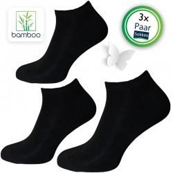 Bamboe sneakersokken heren Zwart (3 Paar)