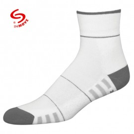 Koele sportsokken voor dames wit met grijs
