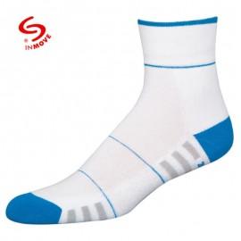 Koele sportsokken voor dames wit met blauw