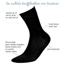Zachte Kindersokken naadloze sokken zwart - 4