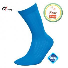 Heren sokken klassiek blauw
