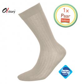 Heren sokken beige klassiek
