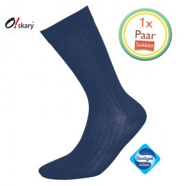 Heren sokken donker blauw klassiek