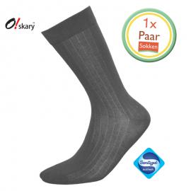 Heren sokken donker grijs klassiek
