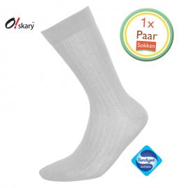 Heren sokken grijs klassiek