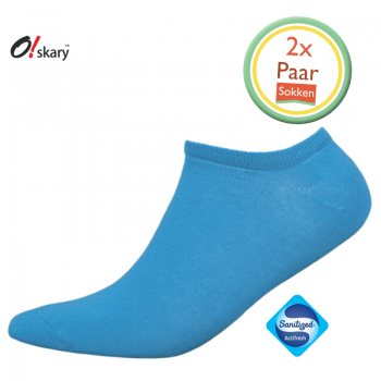 Enkelsokken heren blauw (2 Paar)