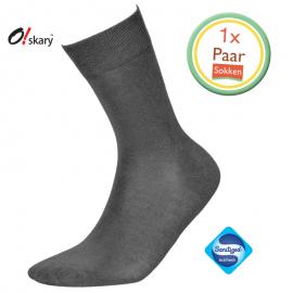 Bamboe sokken heren grijs