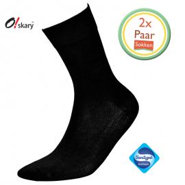 Bamboe sokken heren zwart