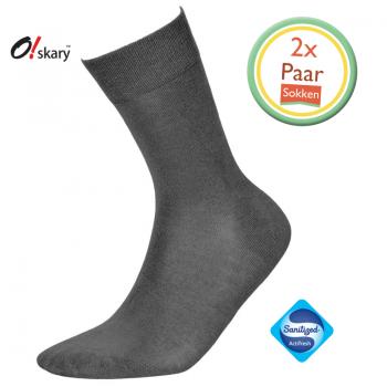 Bamboe sokken heren grijs (2 Paar) - 1
