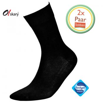 Bamboe sokken heren zwart (2 Paar)